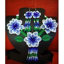 Collar Y Aretes Arte Huichol En Chaquira