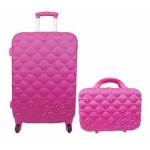Kit Mala Viagem Infantil Feminina Barbie M+ Frasq- 10068bb