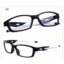 Armação Óculos Grau Acetato Esportivo Masculino Flexível Ea