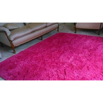Tapete Peludo Quarto Sala 2,00x2,40 Rosa Pink Luxo