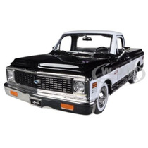 1972 Chevrolet Cheyenne Pickup Truck Negra Escala 1/24 Jada