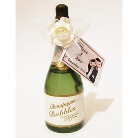 Hermoso Burbujero De Boda Burbujerito Champagne