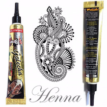 Tubo Henna Indiana Preta,tatuagem Temporaria,sobrancelha
