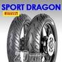 Cubiertas Honda Cbx 250 Twister Pirelli Sport Dragon Juego