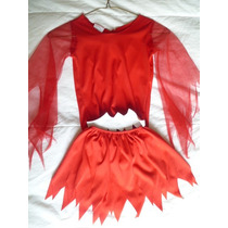 Disfraz De Diablo Para Niña (diablito) Talla 2-3