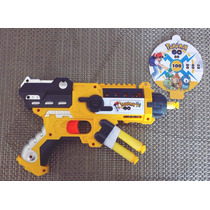 Arma Pistola Pressão Pokemon Go Atira Dardos Nerf +alvo