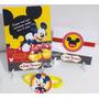 Convite Aniversário Mickey Disney Casa Do Mickey 10 Unidades