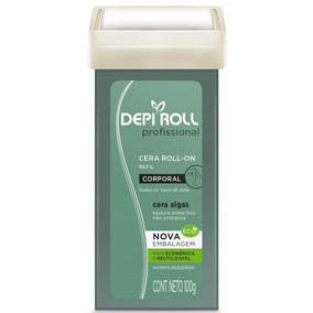 Cera Depilatória Roll-on Depi Roll 100g Algas Verde