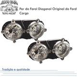 Par Do Farol Do Ford Cargo Diagonal Original E Novo