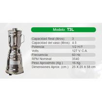 Licuadora Industrial/comercial Marca Tapisa Modelo T3l Acero