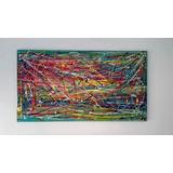 Cuadro Abstracto Moderno Pintado A Mano Acrílico