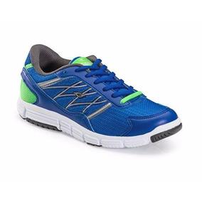 Zapatillas Deportivas Running Gaelle 2384 Azul Verde