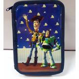 Cartuchera 2 Pisos Toy Story Con Utiles Woody Buzz