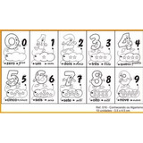 Carimbo Pedagógico Matemática Numerais - 10 Unidades