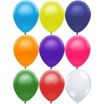 Balão Liso Bexiga São Roque N°7 Kit 10 Pacotes Com 50 Peças