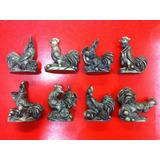 Figura Gallo Con Lingotes Y Monedas 5,5 Cm Feng Shui