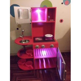 cocina de juguete con luces funcionales