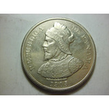 Panama 50 Centesimos De Balboa Fecha 1905 Plata Ley 0.900