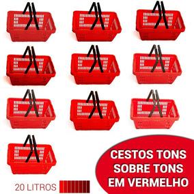 Cestos Vermelhos Tons De Vermelho - 10 Unidades