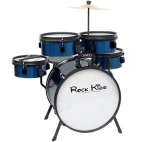 Bateria Infantil Rmv Rock Kids Completa Azul Sparkle