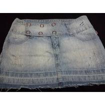 Mini Saia Jeans Curta Tam 40 Dkf Ótimo Estado. Cód 28