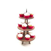 Exhibidor Soporte Base Circular Torre Eiffel Para Cupcakes
