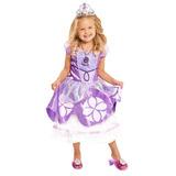 Vestido De Princesa Sofia Morado Talla 4-6x
