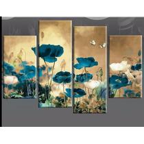 Cuadros Tripticos Modernos Florales Pintados A Mano
