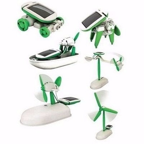Kit Educacional Solar 6 Em 1 - Robô 6 Brinquedos Em Um Só!!!