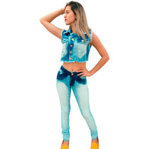 Calça Jeans Feminina Cintura Alta Hot Pants E Com Lycra