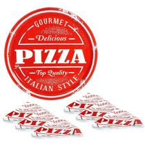 Conjunto De Pratos Pizza Em Vidro 7 Peças