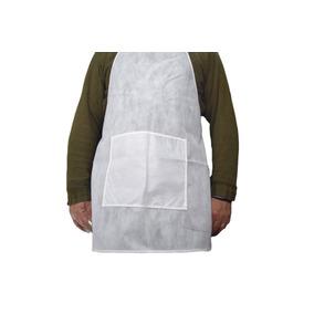 Kit 10 Aventais Descartável Cozinha Escola Em Tnt Branco