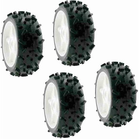 Ofna Set 4 Llantas / Rines Excel Tire Buggy 1/8 R/c Hex 17mm