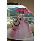 Vestido Xv Años Rosa De Época Con Accesorios Xl