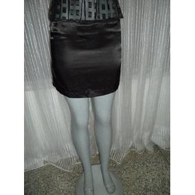 Mini Falda En Saten Talla M Color Negro 03b6e9fe2f48