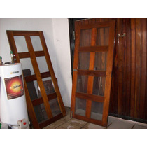 Puertas Antiguas De Viraro Macizo.vidrio Repartido.buenas!!