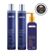 Kit Matiz Blond (sh +cond.)2x300ml +bb Blur 200ml - Maxiline