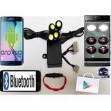 Kit Estrober Bluetooth - Disp. Android - Carros - Motos