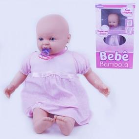 Boneca Bebê Com Chupeta - 53 Cm