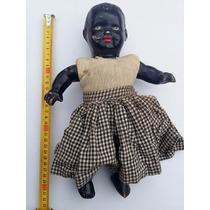 Antigua Muñeca Negra Pasta Muy Buen Estado Tal Cual Fotos!!