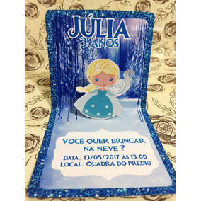 Convite 3d Frozen Infantil Personalizado Pequeno Principe