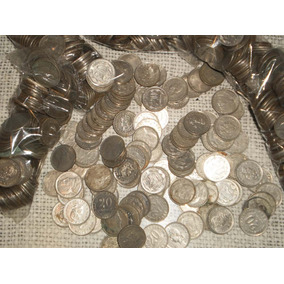Lote De 100 Monedas Antiguas De 20 Centavos Moneda Nacional