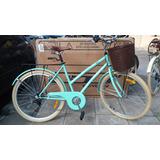 Bicicleta De Dama Paseo Vintage Con 6 Velocidades Skinred