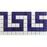 Cenefa Mosaico Borde Decorativo Piscina Azul Piscineria