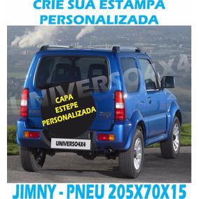 Capa Estepe Personalizada Jimny, Pneu 205x70x15 Cabo+cadeado