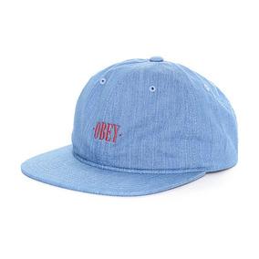 Obey Atlanta Denim Strapback Hat (gorra Obey)
