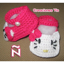 Zapatitos Hello Kitty Bebé Tejidos A Mano Crochet Varios Mod