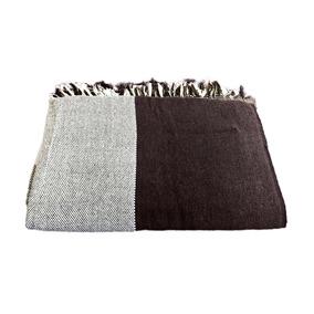 Manta Para Sofá Gigante 2,40x 1,80 Marrom Com Bege