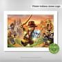 Pôster Indiana Jones Lego Brinquedo Filmes Clássicos Cinema