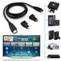 Cable Hdmi, Full Hd1080 + Adaptador Micro Para Audio Y Vide